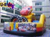 Combinato gonfiabile della macchina da corsa del ponticello rosso del giocattolo
