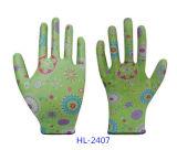 Твердый нитрил сжатия покрыл перчатки работы полиэфира