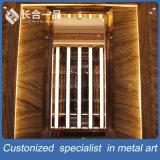 KTV/Hotelのためのカスタマイズされた品質のローズの最もよい金の鋼鉄ドア