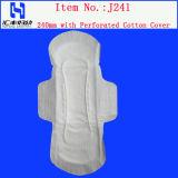 Serviette hygiénique remplaçable mince doucement superbe de dames d'utilisation de jour pour les garnitures sanitaires de femmes et de dames de coton