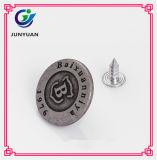 Дешевые кнопки для выгравированных одеждами заклепок цинка кнопок изготовленный на заказ