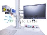 iPhone 케이스 로고 표하기를 위한 30W Mopa 섬유 Laser 표하기 기계 주로