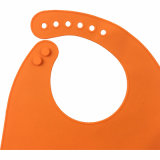 Nouveauté Bébé Wear Products Package Silicone Kids Bib with Embossed Logo
