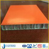 Orange Farben-Aluminiumbienenwabe-Panel für Baumaterial
