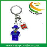 Zacht pvc Plastic Keychain van de douane met de druk van het Embleem
