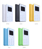 4.8mm Ultra Thin X6 Card Celular Qwerty Keyboard Mini Pocket Card Phone