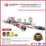 Máquina plástica de la producción del estirador de hoja de la capa de la PC tres o cuatro