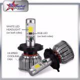 Ampoules de phare de la haute performance 36W 3600lm H7 DEL, phare haut-bas du faisceau 9007 RVB DEL de H4 H13 9004 pour Toyota