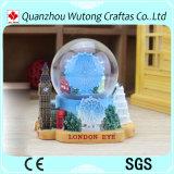 Подгонянный глобус воды смолаы пейзажа Лондон глобуса снежка смолаы