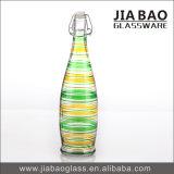 bottiglia di vino del vetro a calce sodata di colore dello spruzzo 1000ml