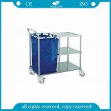 AG-ss010un bastidor de acero inoxidable Muebles Ropa de cama de hospital Carrito de lavandería