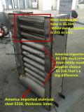 Нержавеющая сталь машинного оборудования еды емкости Китая коммерчески большая роторную печь