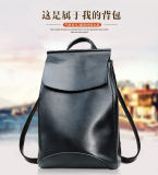 Backpack кожи способа кожаный сумки мешка плеча корейский
