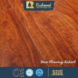 Walnut 12.3mm Teck chêne absorbant le son revêtement de sol stratifié
