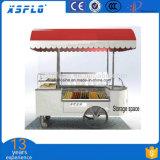 Chariot à crême glacée de Popsicle, chariot de vente de crême glacée de Popsicle de vue