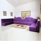 Sofà viola di lusso del salone impostato con la decorazione di Gloden (SP-KS370)
