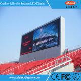 Tela ao ar livre cheia do estádio do diodo emissor de luz da cor P10/indicador interno do estádio