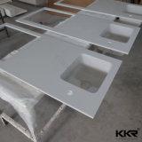 Kingkonree подгоняло цветастую твердую поверхностную верхнюю часть кухни встречную (C171127)