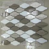Новый дизайн восточной белой мраморной мозаикой из шпона в интерьер дома