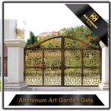 Puerta de jardín de aluminio fundido de aluminio