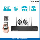 Waterproof 4CH 1080P Wireless WiFi Secuirty IP Camera Kits para uso doméstico