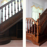 Wood Steps Design Residential Wooden Spiral Stairs (GSP16-010)