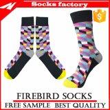 Bunte glückliche Socken mit kundenspezifischer Qualität