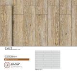azulejos de suelo de cerámica esmaltados de madera del material de construcción de la inyección de tinta de 150X600m m (15674)