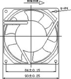 вентилятор AC 115/200/220/230V 92X92X38mm осевой с утверждениями