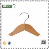 安いカスタム方法ブランドのロゴの木のハンガー