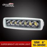 6,3 pulgadas 18W luz blanca marina de trabajo LED