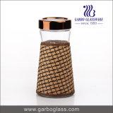 bottiglia di vetro di memoria dell'alimento 1300ml con il manicotto decorativo