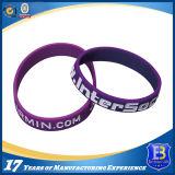Wristband pieno dello smalto & stampata del silicone nei formati dei bambini & dell'adulto (W102)