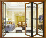 Portello di piegatura esterno di vetro riflesso alluminio di alta qualità di Guangzhou doppio