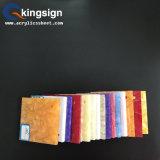 Fabricación de acrílico coloreada de las hojas del final de modelo