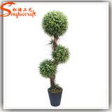 熱い販売の人工的なBoxwoodのプラスチック装飾刈り込み法の木のBonsai