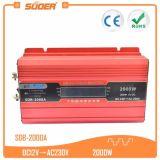 Inversor de la energía solar del precio de fábrica de Suoer 2000W 12V (SDB-2000A)