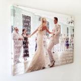 Stampa della tela di canapa della foto, foto su ordinazione resa personale sul regalo di anniversario di arte della parete della decorazione della parete della tela di canapa, stampa Wedding della tela di canapa di aggancio