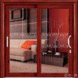 Porte en aluminium en bois intérieure de luxe de cuisine avec des traitements