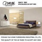 Form-doppeltes Bett-Entwurfs-modernes Schlafzimmer-Möbel-Gewebe-Bett (G7002A)