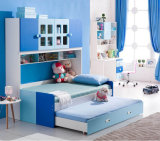 Детский мебель деревянная двухъярусная кровать в книжном шкафу (HC801)