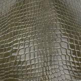 Cuir synthétique de PVC d'unité centrale de crocodile classique pour le sac à main