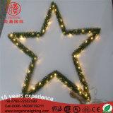 LEDのチンサルの装飾のためのプラスチック星の雪片の銅のクリスマスの照明