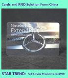Cartão de platina com carimbo de quente para VIP de negócios