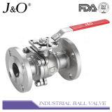 Extremo de brida 2PC Válvula de bola con placa de fijación directa ASME 150lbs
