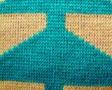 لون موجة يحبك بناء محبوب حصير زرقاء محبوب وسادة