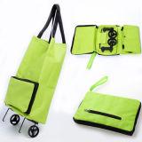 Bewegliche faltbare fahrbare Laufkatze-Polyester-Einkaufstasche für Förderung