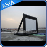 Schermi gonfiabili personalizzati del proiettore dello schermo popolare dell'aria dello schermo di marchio e di formato, attraenti lo schermo di film gonfiabile esterno, schermo dell'aria
