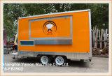 Acoplado anaranjado del carro del alimento de Ys-Fb390d que vende el carro la Arabia Saudita del alimento