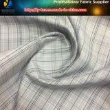 Tela teñida aplicada con brocha de la verificación de los hilados de polyester con la siesta suave para la ropa